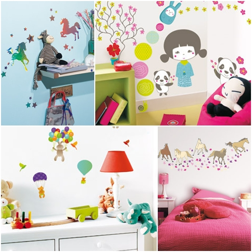 Caselio vinilos infantiles y stickers for Pegatinas pared dormitorio