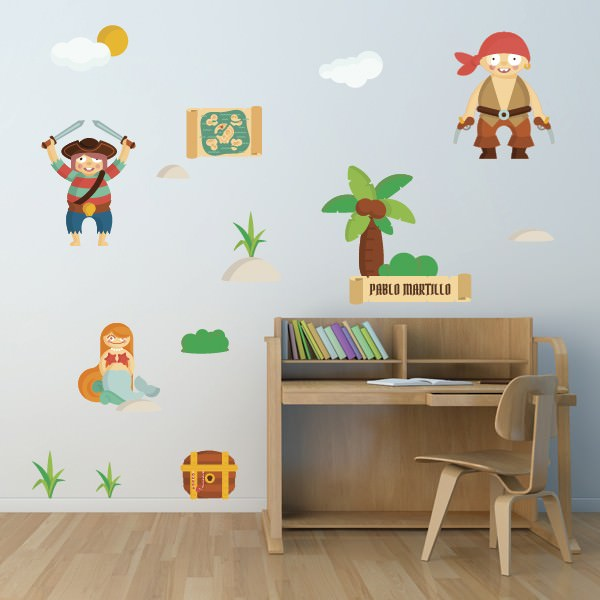 vinilos-infantiles-pared-piratas
