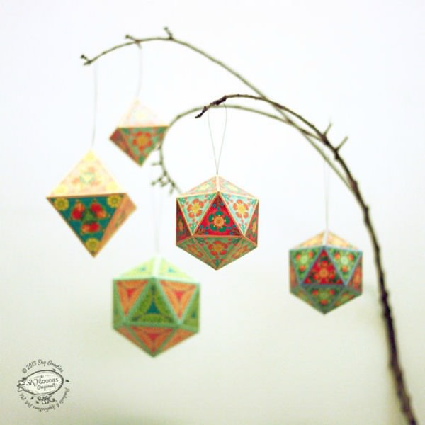 DIY Indian Paper Ornaments - Sky Goodies