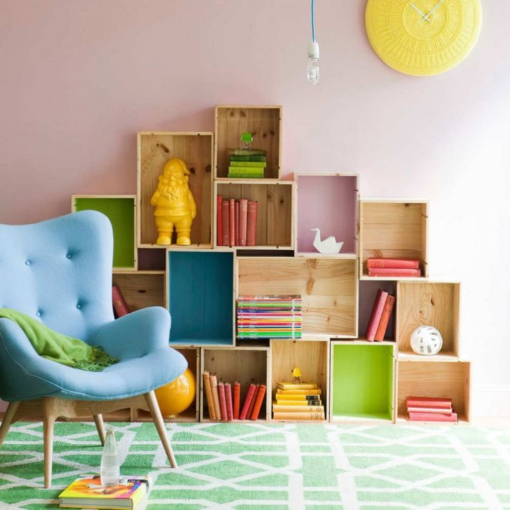 6 cajas estanter as diy para dormitorios infantiles - Estanteria pared infantil ...